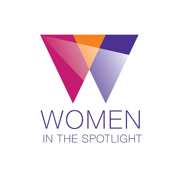 Women in the Spotlight logo designed by Tara Framer Design