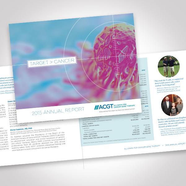 ACGT 2015 Annual Report designed by Tara Framer Design