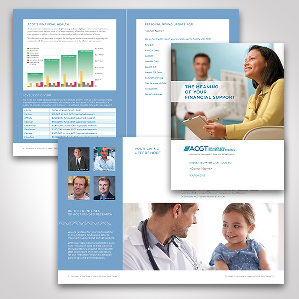 ACGT Personalized Donor Report designed by Tara Framer Design