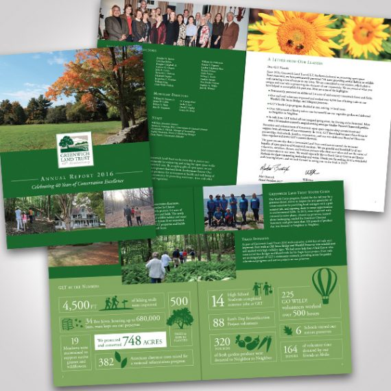 Greenwich Land Trust 2016 Annual Report designed by Tara Framer Design
