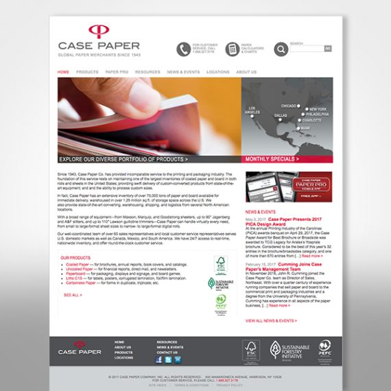 Case Paper Web Site designed by Tara Framer Design