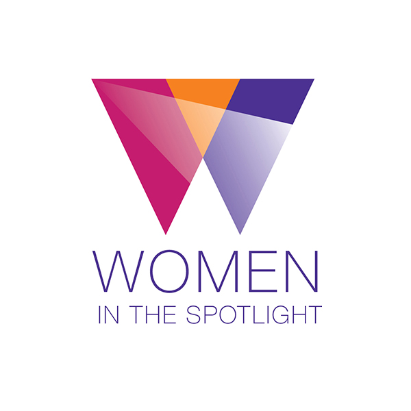 Women in the Spotlight logo designed by Tara Framer Design