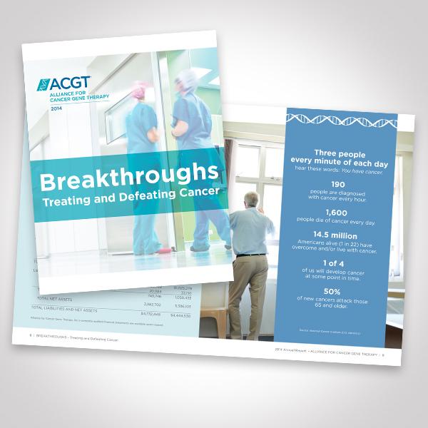 ACGT 2014 Annual Report designed by Tara Framer Design