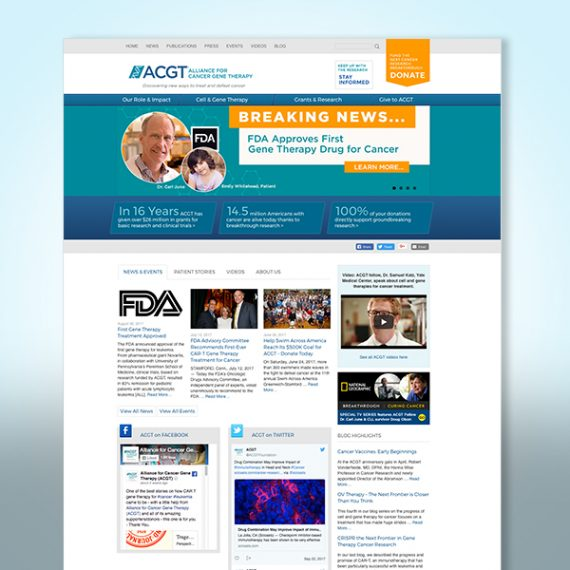 ACGT Web Site designed by Tara Framer Design