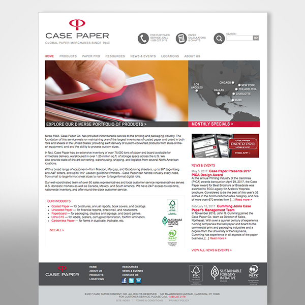 Case Paper Web Site designed by Tara Framer Design