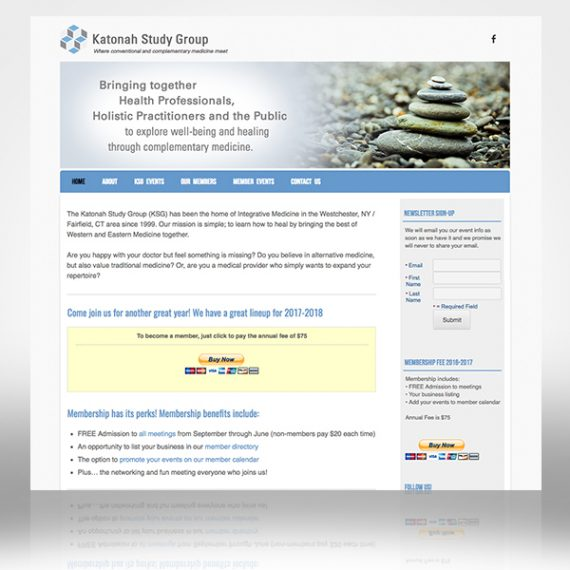 Katonah Study Group Web Site designed by Tara Framer Design