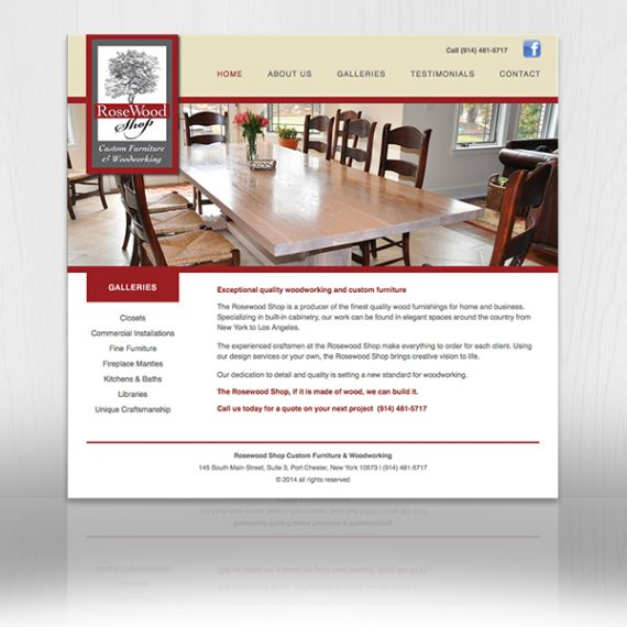 Rosewood Shop Web Site designed by Tara Framer Design