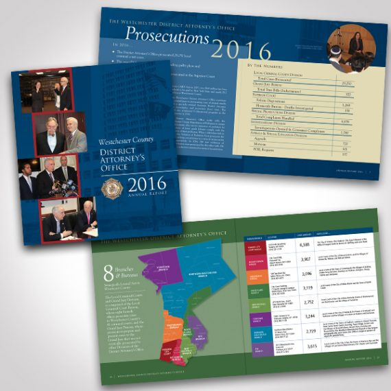 Westchester District Attorney's Office 2016 Annual Report designed by Tara Framer Design