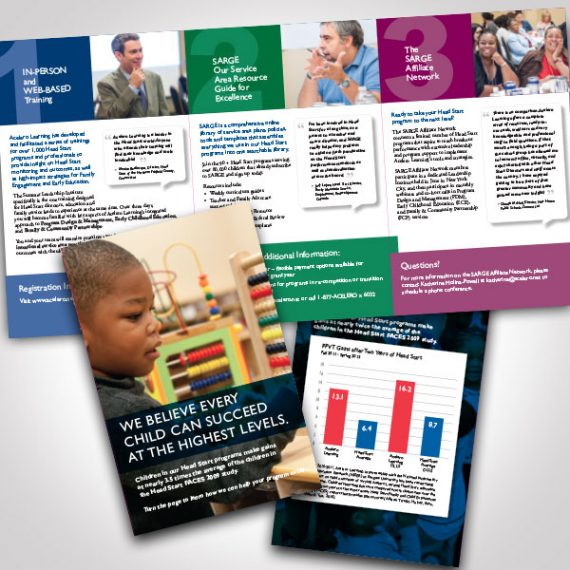 Acelero Learning - SARGE- Brochure by Tara Framer Design