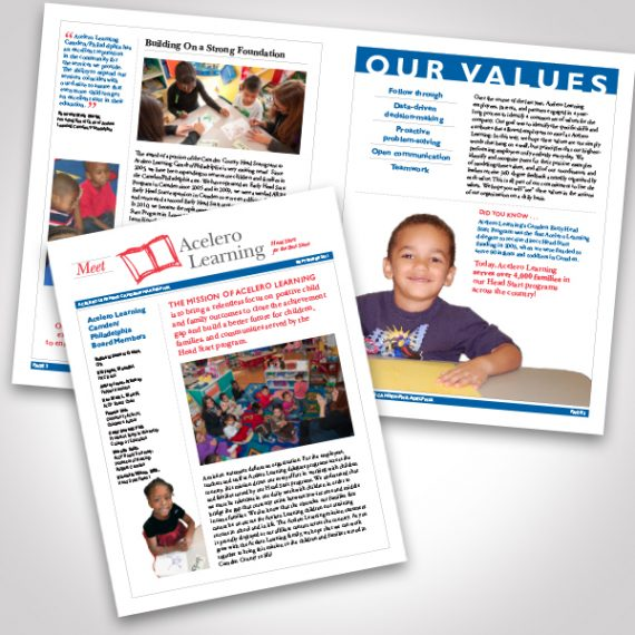 Acelero Learning Newsletter by Tara Framer Design