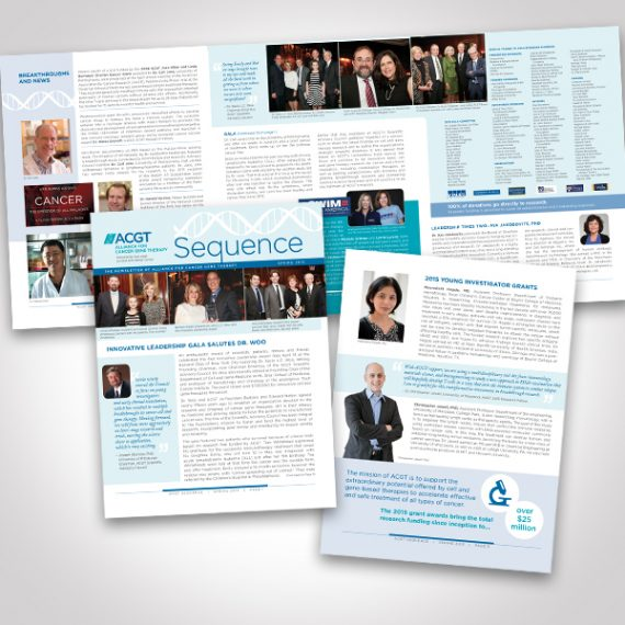 ACGT Newsletter by Tara Framer Design