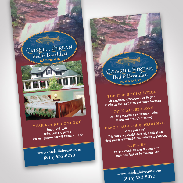Catskill Stream Bed & Breakfast Card by Tara Framer Design